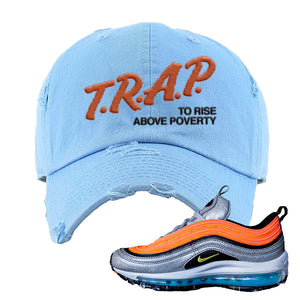 Air Max Plus Sky Nike Distressed Dad Hat | Light Blue, Trap To Rise Above Poverty
