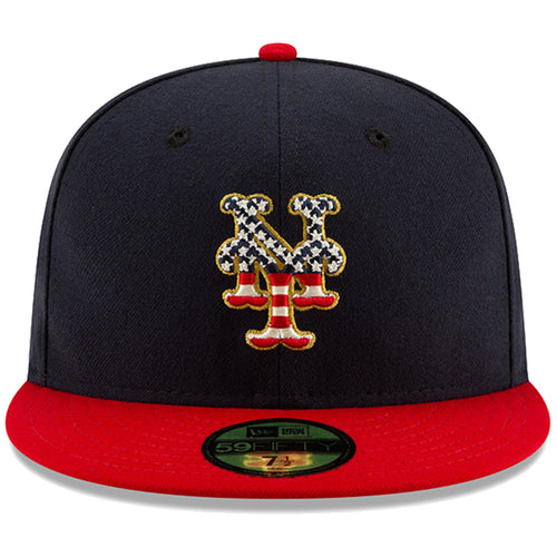 New York Mets Stars and Stripes 2019 Fourth Of July On Field 59FIFTY Fitted Cap