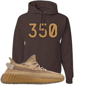 Yeezy Boost 350 V2 Earth Sneaker Hoodie To Match | 350, Chocolate