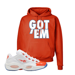 Question Low Vivid Orange Hoodie | Got Em, Orange