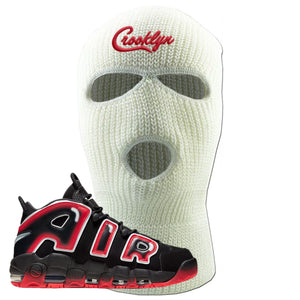 Air More Uptempo Laser Crimson Ski Mask | White, Crooklyn