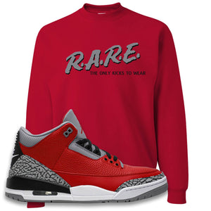 Jordan 3 Red Cement Crewneck Sweatshirt | True Red, Rare