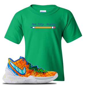 Kyrie 5 Pineapple House Mi Hoy Minoy Irish Green Sneaker Hook Up Kid's T-Shirt