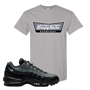 Air Max 95 Black Smoke Grey T Shirt | Krispy Kicks, Gravel