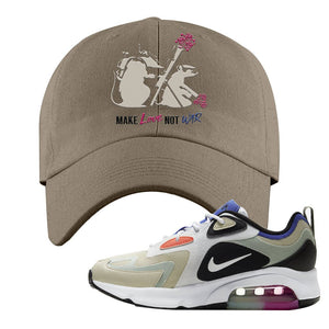 Air Max 200 WMNS Fossil Sneaker Khaki Dad Hat | Hat to match Nike Air Max 200 WMNS Fossil Shoes | Army Rats