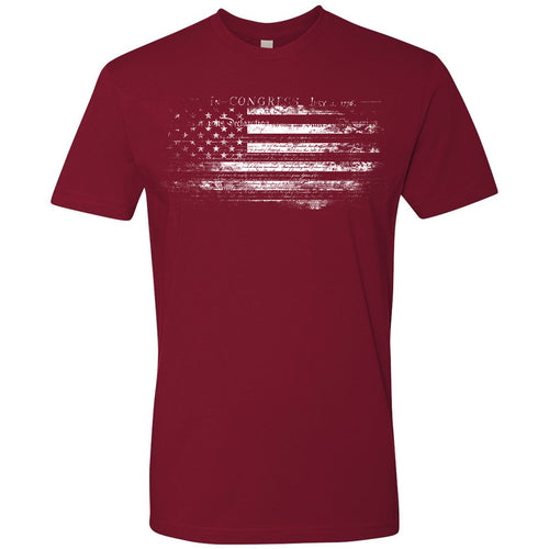Standard Issue Constitution Distressed American Flag Red Grunt Life T-Shirt