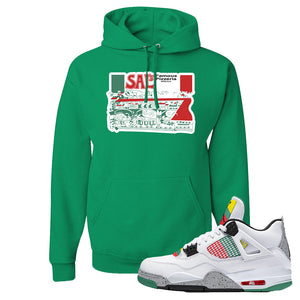 Jordan 4 WMNS Carnival Sneaker Kelly Pullover Hoodie | Hoodie to match Do The Right Thing 4s | Sal's Pizza Box