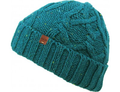 Women's Teal Confetti Cable Knit Beanie