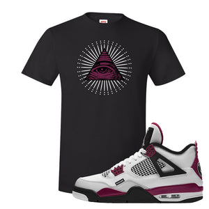 Air Jordan 4 PSG Paname T-Shirt | All Seeing Eye, Black