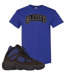 Yeezy 500 High Tyrian T Shirt | Cobalt, Blessed Arch
