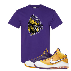 Lebron 7 'Media Day' T Shirt | Purple, Indian Chief