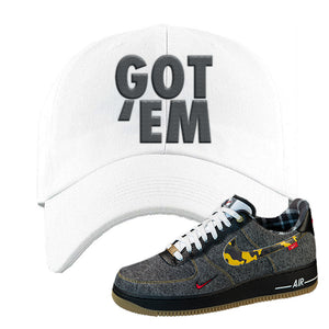 Air Force 1 Low Plaid And Camo Remix Pack Dad Hat | Got Em, White