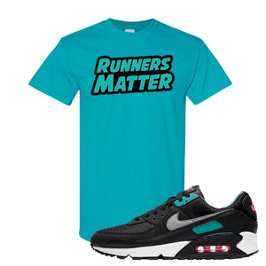 Air Max 90 Black New Green T Shirt | Runners Matter, Tropical Blue