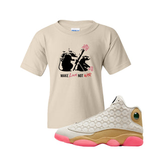 Jordan 13 Chinese New Year 2020 Army Rats Natural Kid's T-Shirt to match Jordan 13 Chinese New Year Sneaker