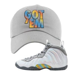 Lil Posite One Rainbow Pixel Dad Hat | Light Gray, Got Em