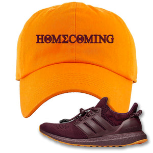 Homecoming Orange Dad Hat to match Ivy Park X Adidas Ultra Boost Sneaker