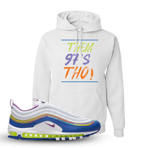 Air Max 97 'Easter' Sneaker White Pullover Hoodie | Hoodie to match Nike Air Max 97 'Easter' Shoes | Them 97's Tho