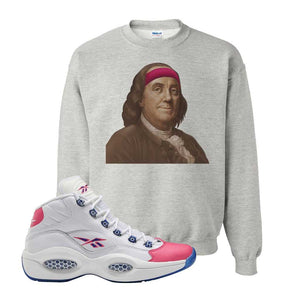 Question Mid Pink Toe Sweatshirt | Franklin Headband, Ash