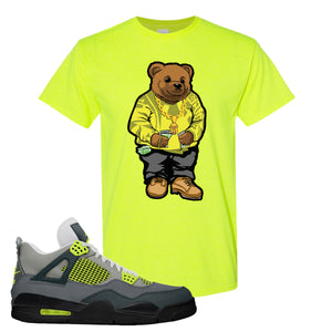 Jordan 4 Neon T-Shirt | Safety Green, Sweater Bear