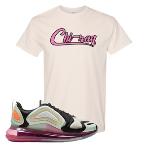 Air Max 720 WMNS Black Fossil Sneaker Natural T Shirt | Tees to match Nike Air Max 720 WMNS Black Fossil Shoes | Chiraq