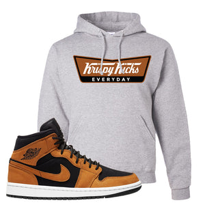 Air Jordan 1 Mid Wheat Hoodie | Krispy Kicks, Ash