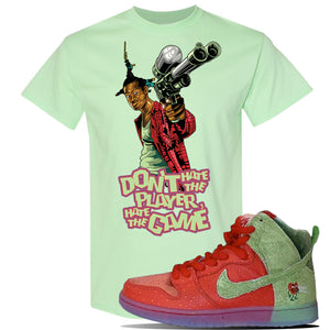 SB Dunk High 'Strawberry Cough' T Shirt | Mint Green, Don't Hate The Player