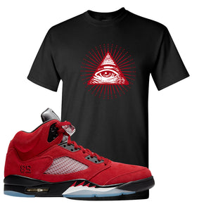 Air Jordan 5 Raging Bull T Shirt | All Seeing Eye, Black