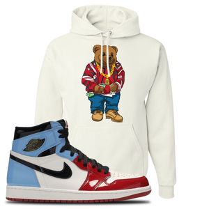 Air Jordan 1 Fearless Sweater Bear White Made to Match Pullover Hoodie