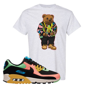 Furry Air Max 90 Bright Neon T Shirt | Sweater Bear, Ash