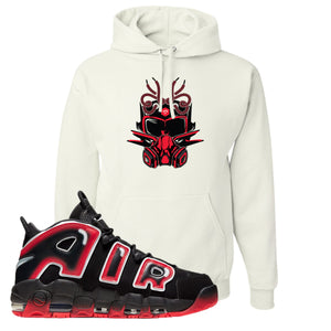 Air More Uptempo Laser Crimson Hoodie | White, Sneaker Mask