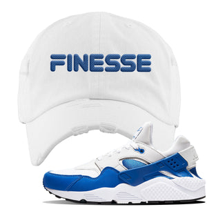 Huarache DNA Series Distressed Dad Hat | White, Finesse