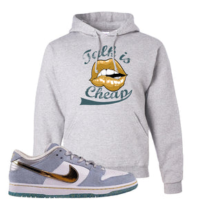 Sean Cliver x SB Dunk Low Hoodie | Talk Is Cheap, Ash