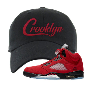 Air Jordan 5 Raging Bull Dad Hat | Crooklyn, Black