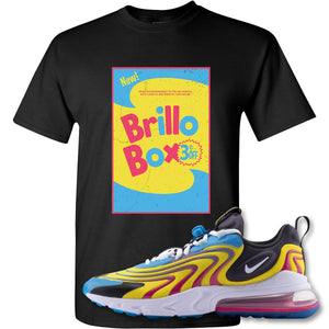 Brillo Box Black T-Shirt to match Air Max 270 React ENG Laser Blue Sneakers