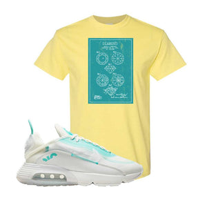 Air Max 2090 Pristine Green T Shirt | Cornsilk, Diamond Patent Sketch