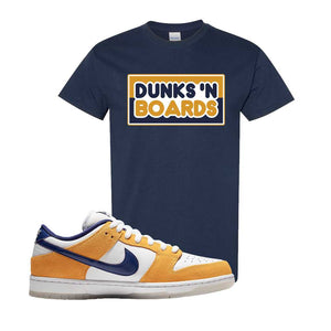 SB Dunk Low Laser Orange T Shirt | Navy, Dunks N Boards