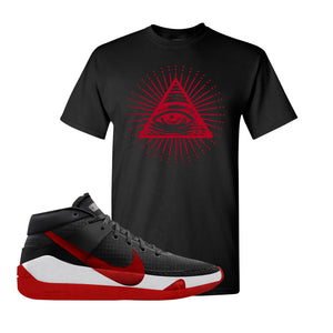 KD 13 Bred T-Shirt | All Seeing Eye, Black