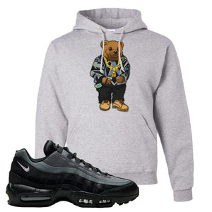 Air Max 95 Black Smoke Grey Hoodie | Sweater Bear, Ash