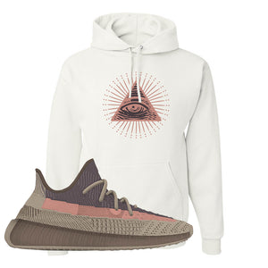 Yeezy 350 v2 Ash Stone Hoodie | All Seeing Eye, White
