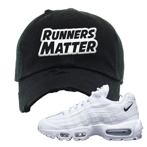 Air Max 95 White Black Distressed Dad Hat | Black, Runners Matter