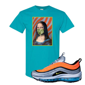 Air Max Plus Sky Nike T Shirt | Tropical Blue, Mona Lisa Mask