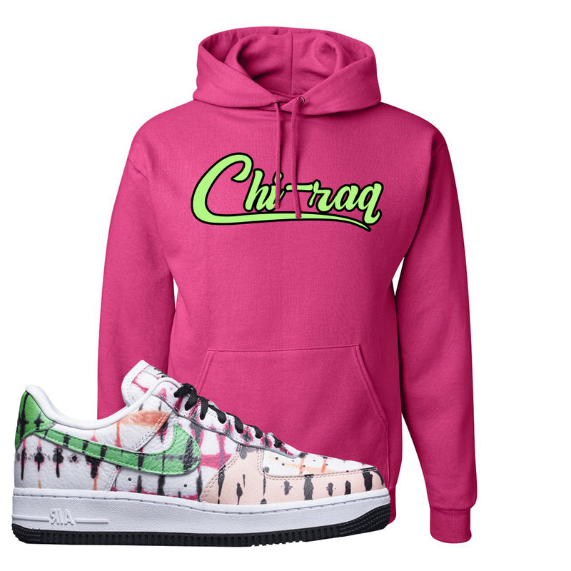 Air Force 1 Low Multi-Colored Tie-Dye Hoodie | Cyber Pink, Chiraq