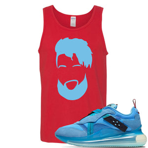 Air Max 720 OBJ Slip Light Blue Tank Top | Red, OBJ Head