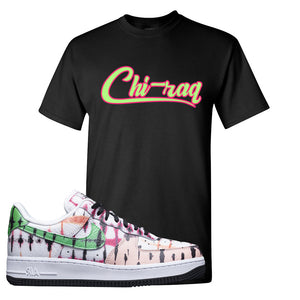 Air Force 1 Low Multi-Colored Tie-Dye T Shirt | Black, Chiraq