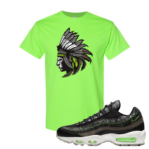 Air Max 95 Black / Electric Green T Shirt | Indian Chief, Neon Green
