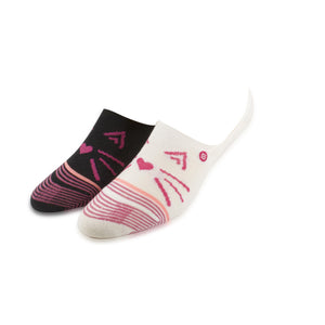 Stance Kitty Cat Girl's Sized Black / Pink Ankle Socks