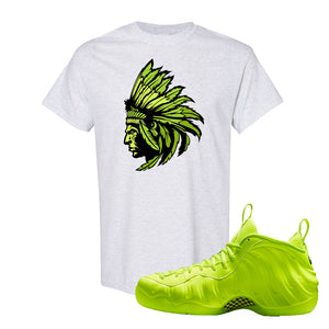 Air Foamposite Pro Volt T Shirt | Indian Chief, Ash