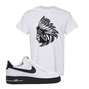 Air Force 1 Low White Black T Shirt | Ash, Indian Chief