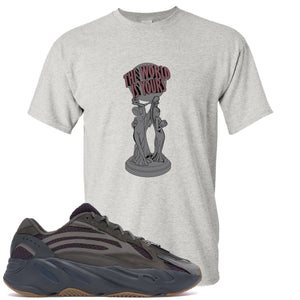 Yeezy Boost 700 Geode Sneaker Hook Up The World Is Yours Sports Gray T-Shirt