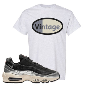 3M x Nike Air Max 95 Silver and Black T Shirt | Vintage Oval, Ash